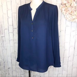 Bellatrix Royal blue long sleeves career blouse
